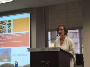 Liz Hersh, Executive Director of the Housing Alliance of Pennsylvania welcomes summit participants